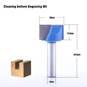 Image 5 - 10 ピース 8 ミリメートルクリーニングボトムビット彫刻ビット超硬 10,12 、 14,16 、 18,20 、 22,25 、 28,30 ミリメートル径の Cnc フライスカッター