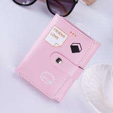 Short Student Wallet Korean Version Small 3 Fold Fashion Expression Imprint Card Pack Coin Purse Female