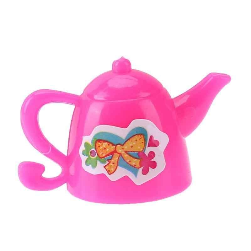 7 unids/set de utensilios de cocina, casa de muñecas de plástico, juguetes para jugar a la casa, juguetes de educación temprana para niños, accesorios para muñecas 2