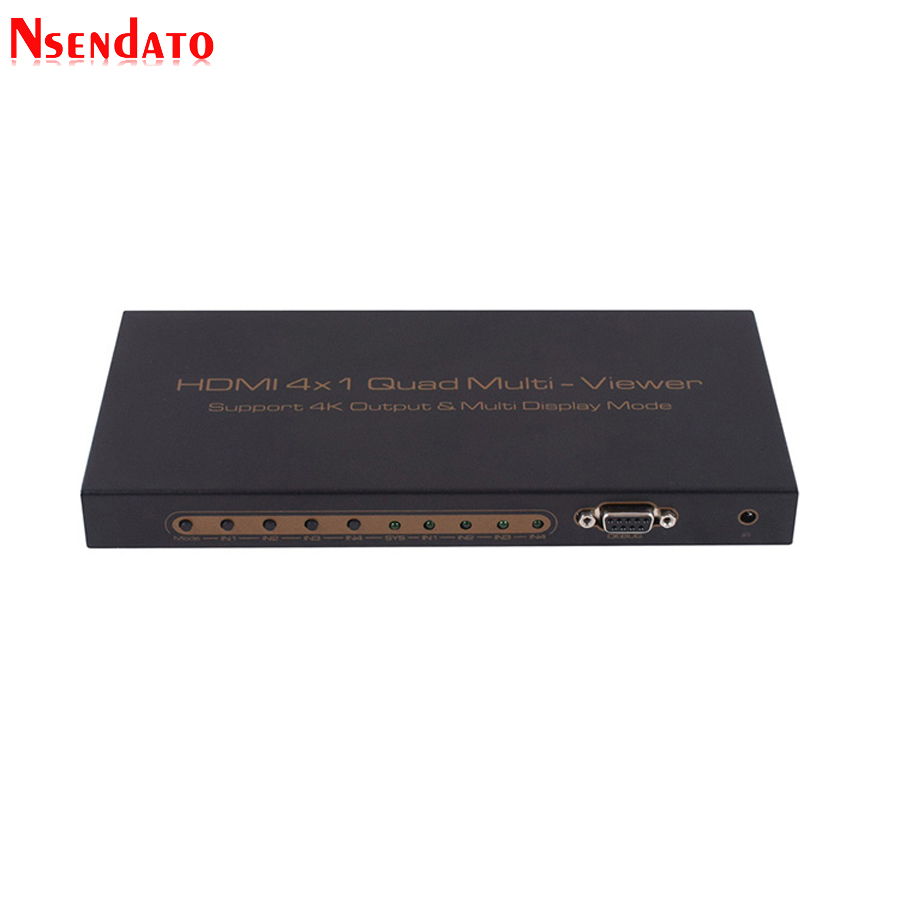 4K HDMI 4x1 Quad Multi-viewer Screen Splitter Converter with RS232 IR Control Operated seamless switcher For HDTV DVD PS3 STB