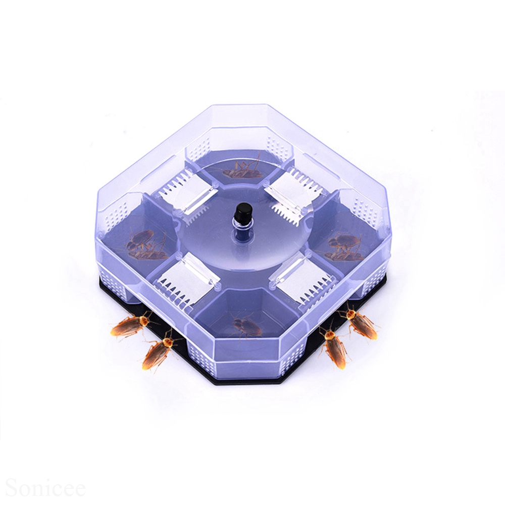 Non- Toxic Cockroach Traps High Quality Reusable Plastic Large Size Insect Killer Lizard Catcher Physical Cockroach Catching 2