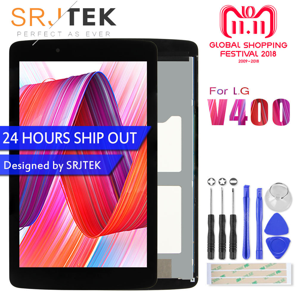Srjtek For LG G Pad 7.0 V400 LCD Display Touch Screen with Digitizer Sensor Panel Tablet Assembly LD070WX7 V400 Screen wireless emergency help panic button sensor for my 99 zones home alarm system gsm pstn security burglar alarm