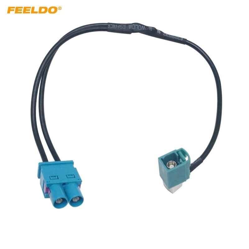 Feeldo 1 Female To 2 Male Fakra Ii Radio Antenna Adapter For Volkswagen/skoda/audi Oem Stereo Head Unit#hq5791 Car Electronics Automobiles & Motorcycles