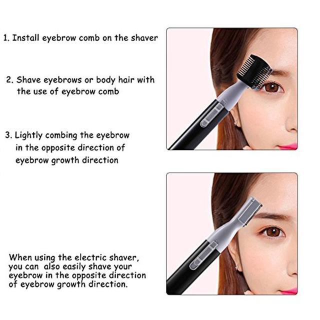 XY Fancy Women Portable Electric Facial Trimmer Shaver Eyebrow Shaper Pen Hair Remover 2