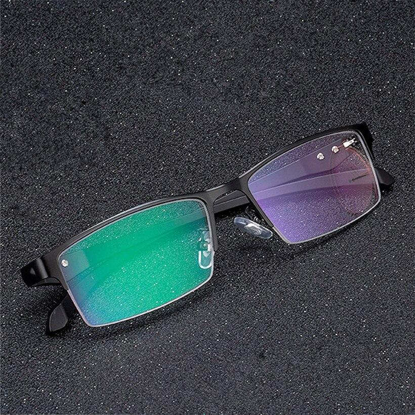 NYWOOH сплава очки кадр Для мужчин TR90 Бизнес оптический Оправы для очков полный Половина обода очки
