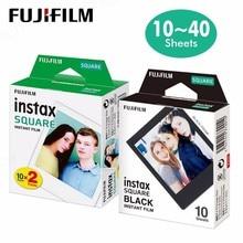 Original fujifilm instax quadrado filme de borda branca instantânea 10 folhas para fuji sq10 câmeras de formato híbrido