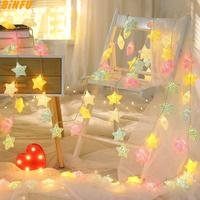 Crack Star Shape String Lamp 1.5M 3M LED Crack Balls String Light Battery Operated Decorative Christmas Fairy Light with battery