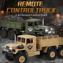 JJR/C JJRC Q63 1/16 2.4G 6WD Off-Road Militaire Truck Crawler RC Auto Borstel Motor Afstandsbediening controle Speelgoed Groen Geel