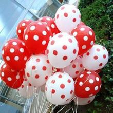 10 шт., латексные шары в горошек с изображением Микки и Минни, красный, розовый, белый, детские шаровары для дня рождения, вечеринки, свадьбы, декоративные принадлежности