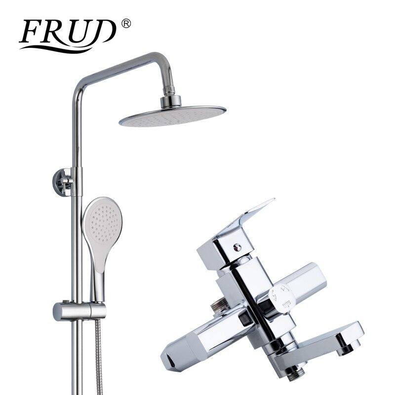 FRUD haute qualité salle de bains pluie douche robinet ensemble mitigeur baignoire robinets mural bain douche robinet torneira R24131