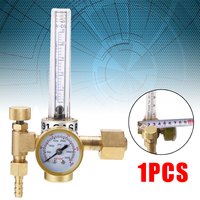 1pc Argon CO2 Mig Tig Flow Meter Copper Gas Regulator Flowmeter Welding Weld Gauge Argon Regulator Pressure Reducer