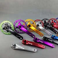 MTB Crankset Bicycle Hollow One Crank Crank Aluminum Alloy Sprocket Mountain Cycling Fluted Disc MTB Bike Parts Crankets