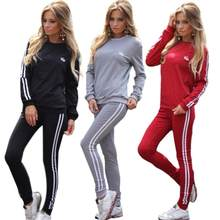 Tracksuit For Women Two Piece Set Chandal Mujer Winter Suit for Women Office Lady Loose Casual Women Sports Suit Plus Size 2019(China)