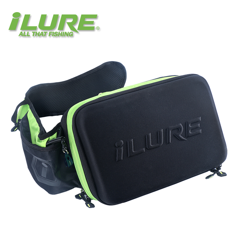 ilure China Factory Fishing Tackle bag 31 23 11cm Men Canvas Multi Purpose Waterproof Outdoor Waist