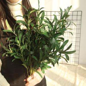 Image 4 - 1 * falso flor 6 forquilha artificial falso flores folha de oliva ramo folhas de oliveira folhagem decoração de casa buquês de casamento planta