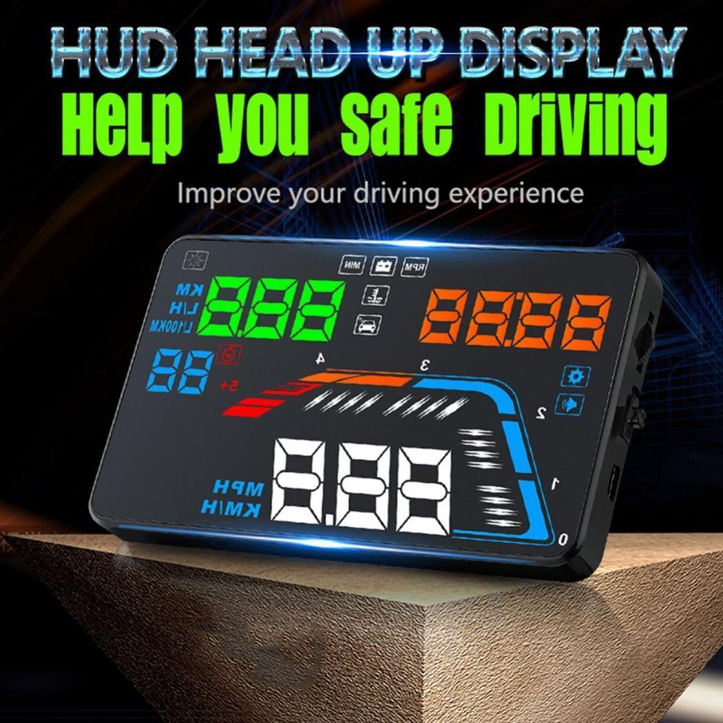 Q700 5.5 pouces OBD HUD voiture tête haute affichage pare-brise projecteur ordinateur de bord hud affichage voiture électronique obd2 voiture compteur de vitesse