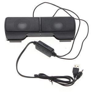 Image 5 - Portable Mini USB Stereo Speaker Soundbar clipon Speakers for Notebook Laptop Phone Music Player Computer PC with Clip