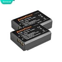 Bonacell 2200 mAh LP-E10 LP E10 LPE10 Batterie D'appareil Photo Numérique Pour Canon 1100D 1200D 1300D Rebelles T3 T5 BAISER X50 X70 Batterie L10