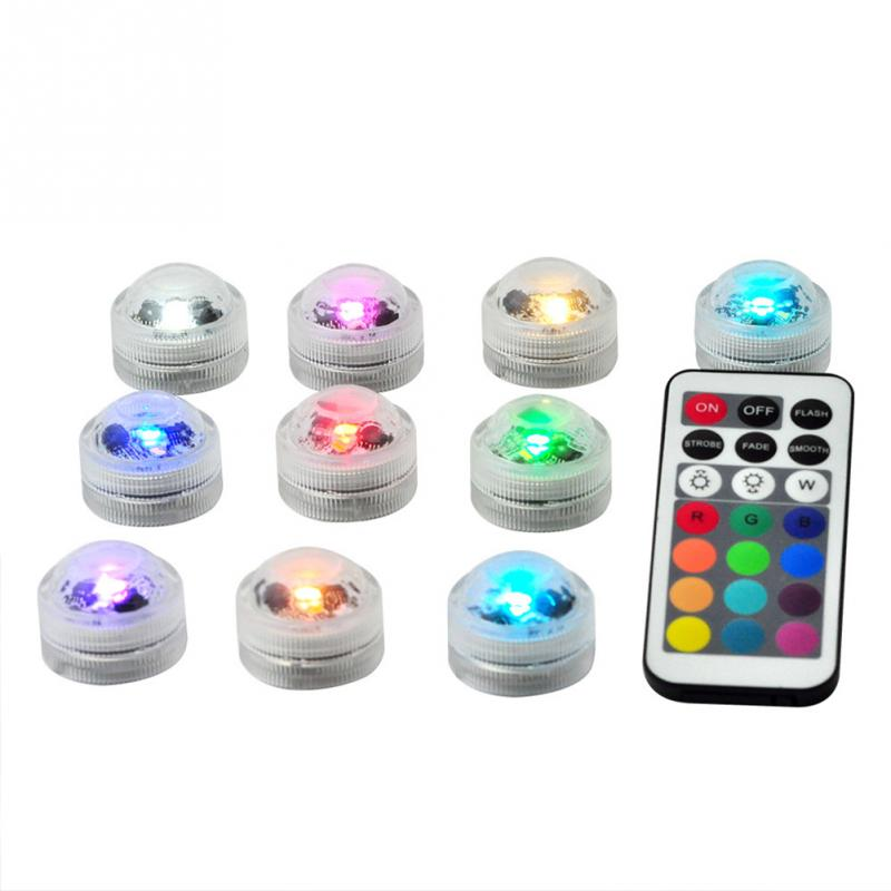Led Underwater Lights Led Lamps Well-Educated Wsfs Hot 12pcs Bathtub Lamp Mini Outdoor Rgb Submersible Led Light Multicolor Underwater Light With Remote Control Home Bath