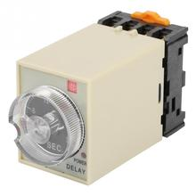 цена на 0-30s Power Off Delay Timer Relay Knob Control Time Relay with Base AC 220V ST3PF