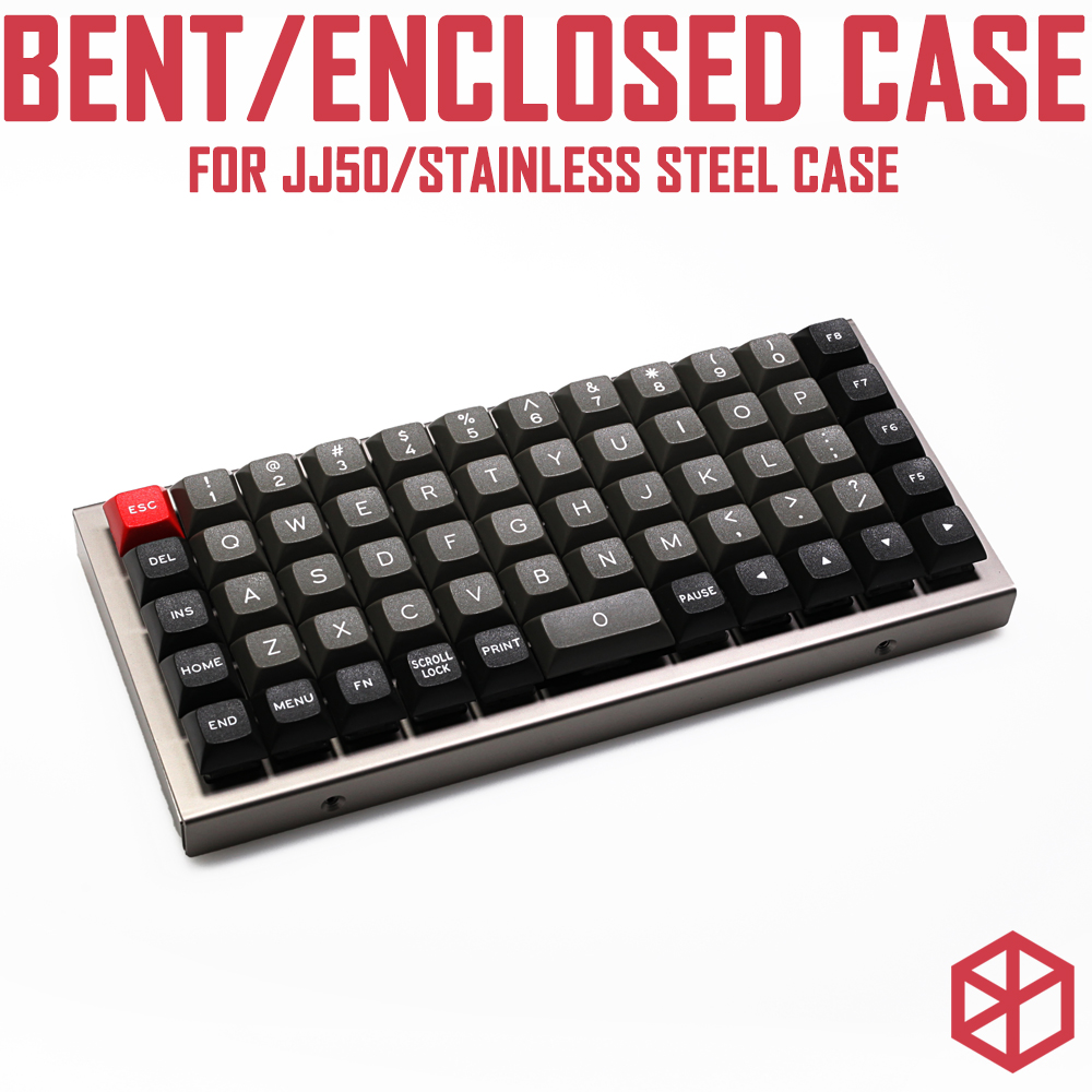 Stainless Steel Bent Case Enclosed Case For Jj50 JJ50 50% Custom Keyboard Acrylic Panels Acrylic Panel Diffuser Similar Preonic