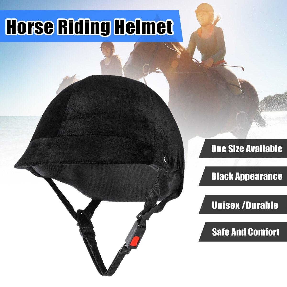 Adjustable Horse Riding font b Helmet b font Equestrian font b Helmet b font Black Half