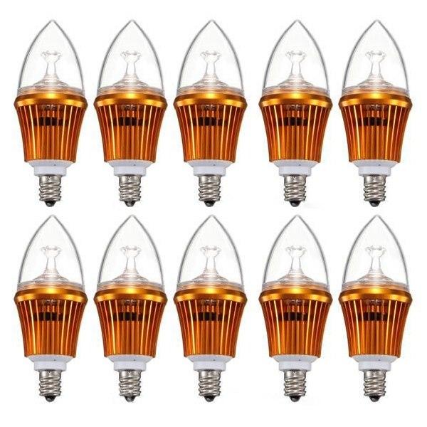 10X מנורת E12 6 W כוח LED נברשת נר אור הנורה מנורת ≈40W 85 265 V-בתאורת תקרה מתוך פנסים ותאורה באתר
