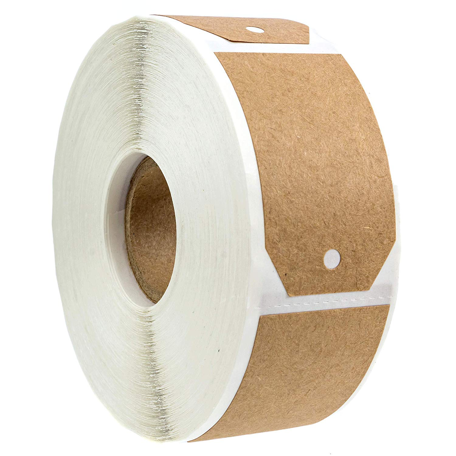 1.15 InchX2 Inch Kraft Gift Tag Stickers / 300 Labels Per Roll/Permanent Adhesive