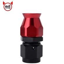 Злые энергии AN6 0 45 90 180 градусов Алюминиевый шарнир шланг PTFE конец адаптер PTFE топливный трубопровод фитинги для повторного использования