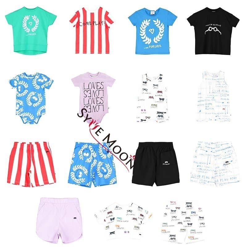 Kids T Shirts 2019 B Loves Summer Boys Girls Glasses Print Short Sleeve T Shirts Baby