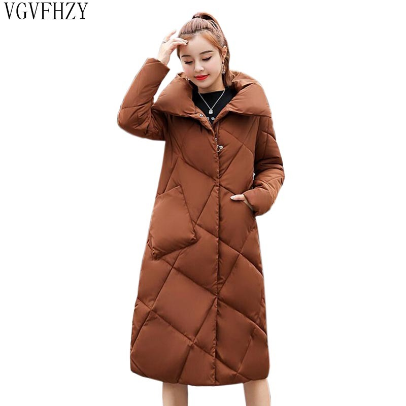 gray 2018 Veste army Hiver Casual D'hiver Parkas Chaud Femelle caramel Colour Beige navy Blue Manteau Pardessus red black Femmes Green Épaissir Ly1297 Nouveau Long XTatwqw5
