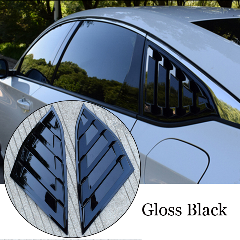 2pcs/set Car Window Side Louvers For Honda Accord 2018 Rear Decor