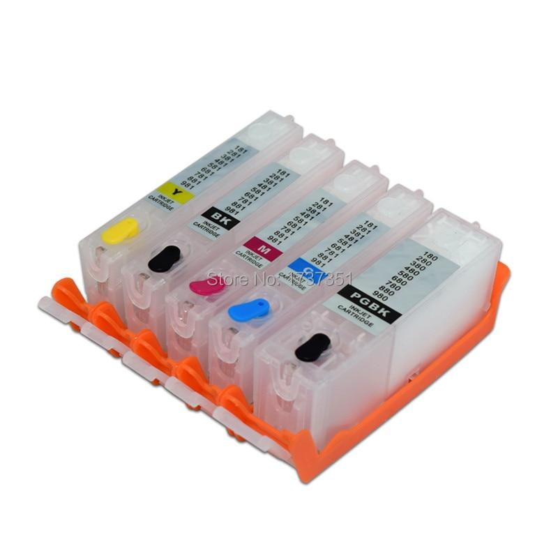 5 цветов PGI 480 CLI 481 заправка чернильный картридж с чипом для Canon PIXMA TS6140 TR7540 TR8540 принтер PGI 480 480XL CLI 481|Чернильные картриджи|   | АлиЭкспресс