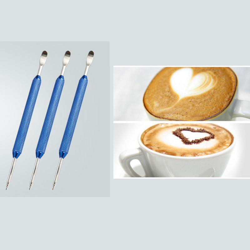 Barista Coffee Cappuccino Latte Decorating Art Pen Stainless Steel Kitchen