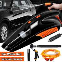 3 in 1 Portable Car Vacuum Cleaner 12V 100W 2800P Handheld Vaccum Cleaner Aspirateur Voiture with LED Light Water Sprayer Gun