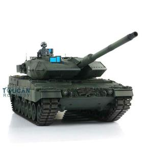 Image 5 - Henglong 1/16 Green 6.0 version infrared combat Leopard2A6 RC Tank 3889 Barrel Recoil Metal Track Rubber TH12771