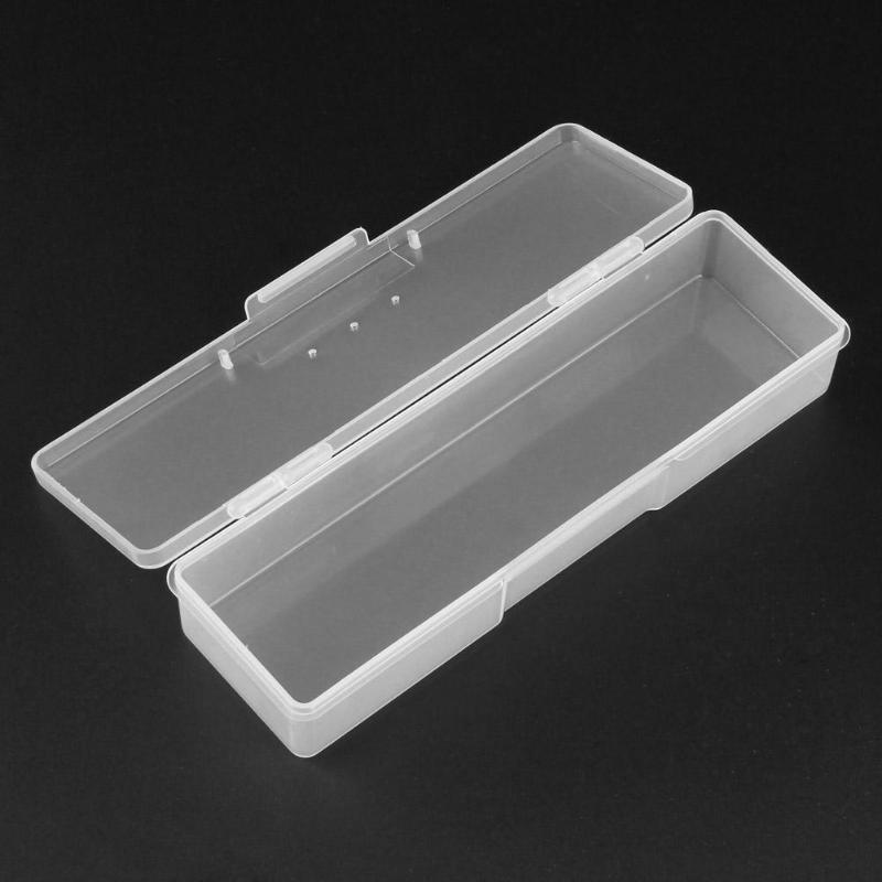 Translucent Nail Art Storage Box Rectangle Nails Dotting Drawing Studs Brushes Holder Container Manicure Case Drop Shipping bicycle helmet