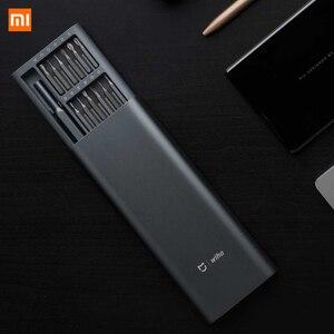 Image 3 - Xiaomi Kit de destornilladores de precisión Mijia Wiha 24 en 1, brocas magnéticas de 60hrc, herramientas de reparación para el hogar