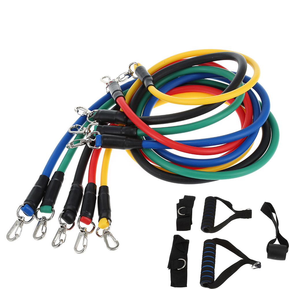 11pcs/Set Latex Resistance Exercise Fitness Pull Rope Weight