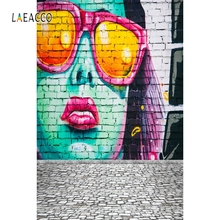 Laeacco Grunge Brick Wall Graffiti Backdrop Photography Backgrounds Photocall  Photographic Backdrops For Photo Studio