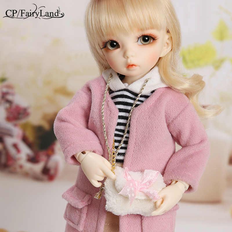Bjd bonecas littlefee ante 1/6 yosd rosa ouro encaracolado cabelo lolita fullset opção menina brinquedos para meninas melhor presente fairyland fl