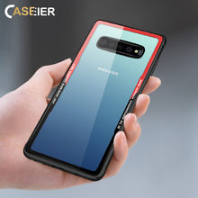 CASEIER Luxury Tempered Glass Case For Samsung Galaxy S10 Plus S10e Phone Cases Back Covers Fundas