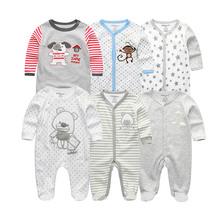 Dziewczęce zestawy ubrań dla niemowląt noworodki body jednoczęściowe bawełniane ubranka dla niemowląt Roupas de bebe ubranka dla chłopców 1 2 3 5 6 szt tanie tanio Dla dzieci Pajacyki Cotton O-neck Drukuj Unisex kiddiezoom Przycisk zadaszone RFL6001 Pasuje prawda na wymiar weź swój normalny rozmiar