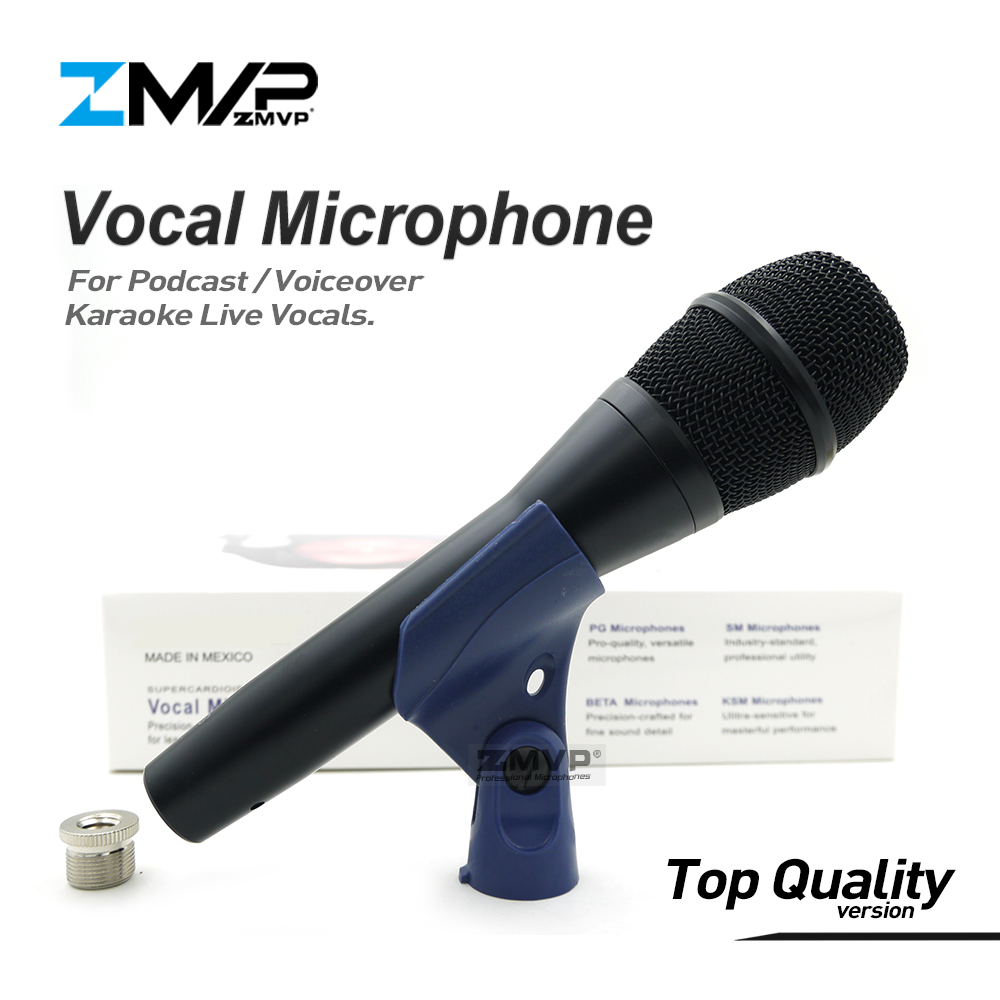 Top Qualité Version KSM9 Professionnel Voix En Direct KSM9HS Dynamique Filaire Microphone Karaoké Super-Cardioïde Podcast Microfono Mic