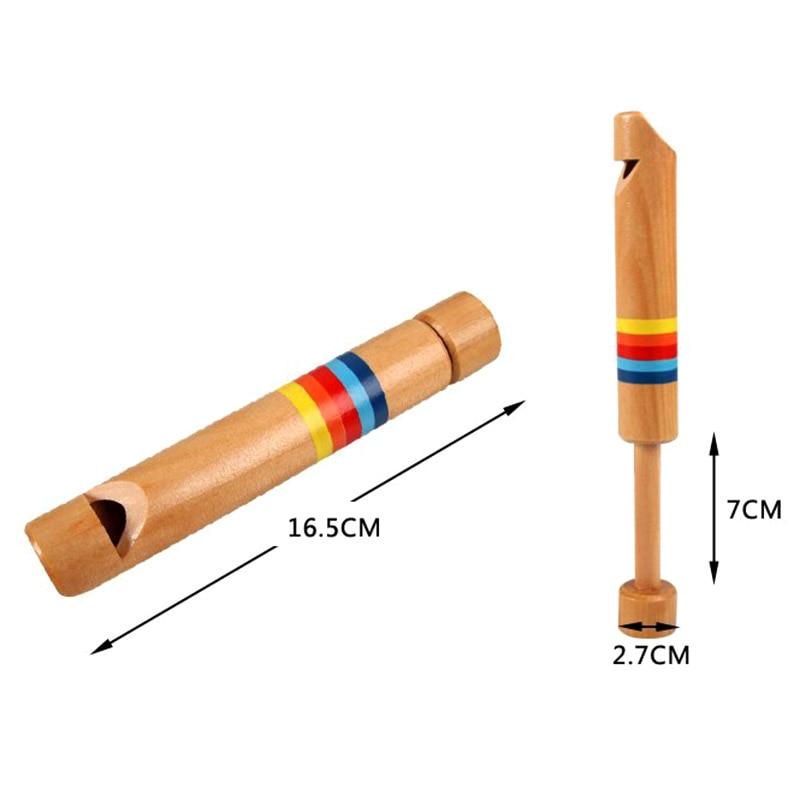 1 Pcs Kinder Holz Pfeife Musical Instrument Pädagogisches Spielzeug Für Kinder Yjs Dropship Weniger Teuer