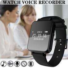 цена на V81 Digital Voice Recorder Watch Activated Recording Wrist Band 1536kbps Dictaphone OLED Screen Business Recorder