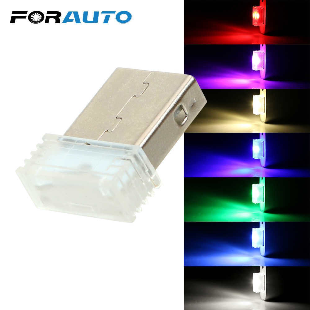 Car LED Atmosphere Lights Mini USB Decorative Lamp Car-styling Auto Interior Lights Ambient Lamp Universal Emergency Lighting