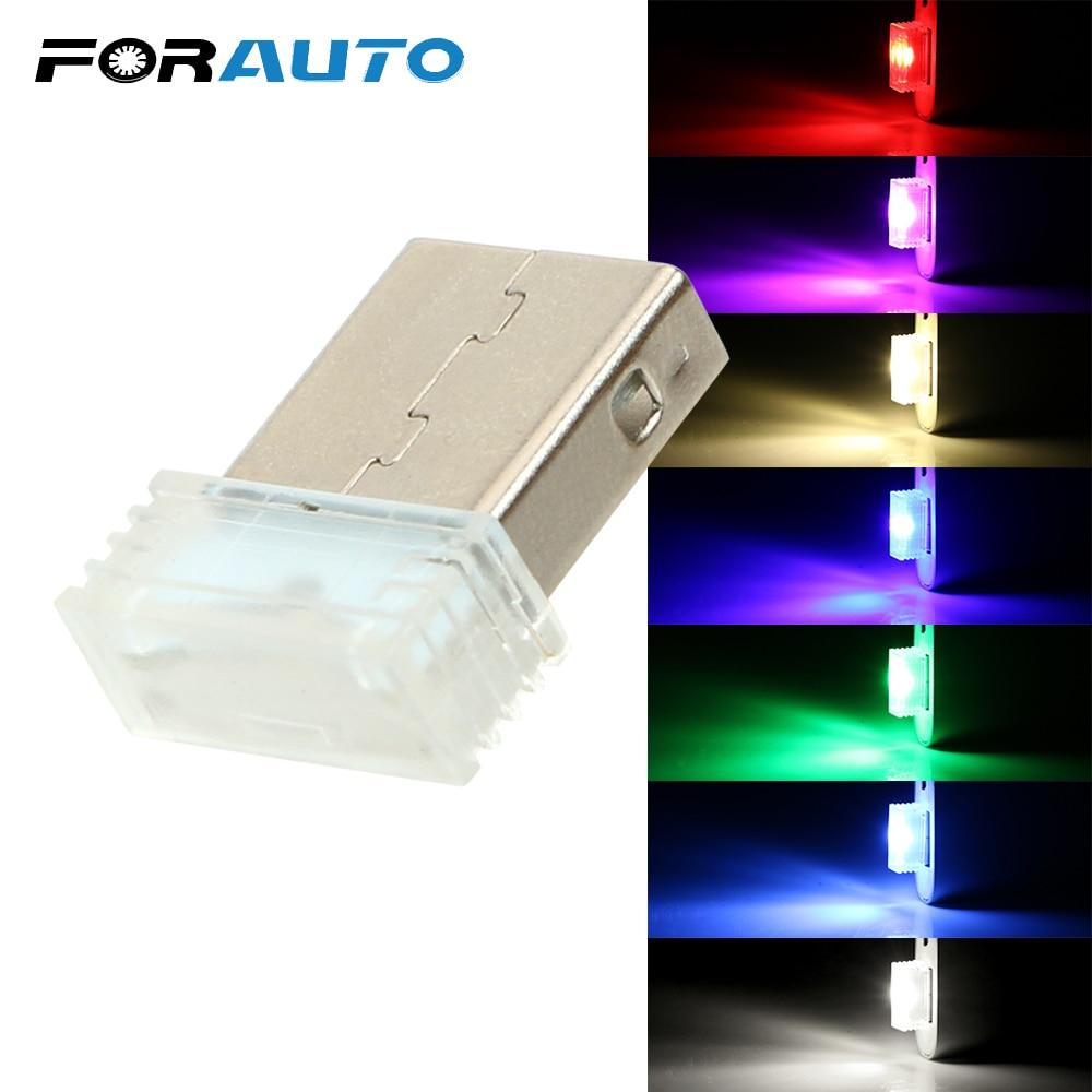 Car LED Atmosphere Lights Mini USB Decorative Lamp Car-styling Auto Interior Lights Ambient Lamp Universal Emergency Lighting