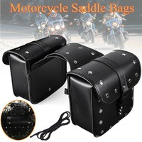 Universal Motorcycle Saddlebag PU Leather saddle Motorcycle bag suitcase For Harley Sportster XL883 XL1200 Iron Dyna Tool Bag