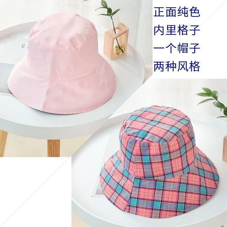 2019 Nuovo Modello Coreano Pescatore Cappello Degli Uomini Delle Donne Cappelli Due-sided Percalle di Arte Per Il Tempo Libero cappello Pieghevole del cappello di Protezione Del Bacino